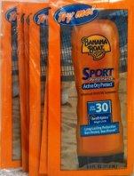 sunscreen packets