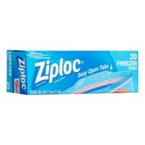 ziploc pint freezer bags